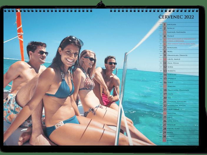 fotokalendář A3 na šířku  - moře