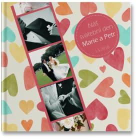 plochá fotokniha - svatební
